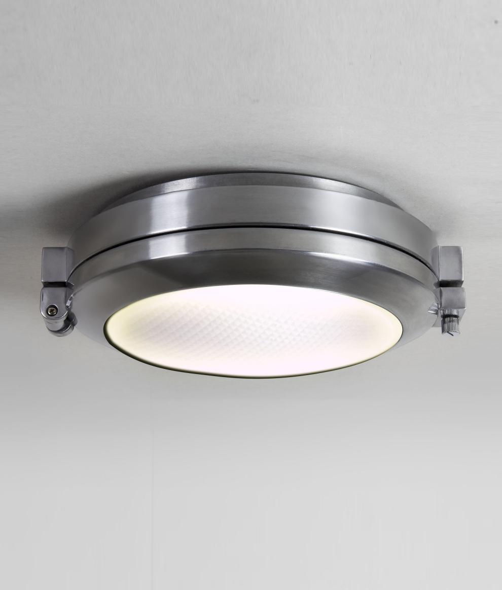 Ip65 polished aluminum round exterior light for Round exterior lights
