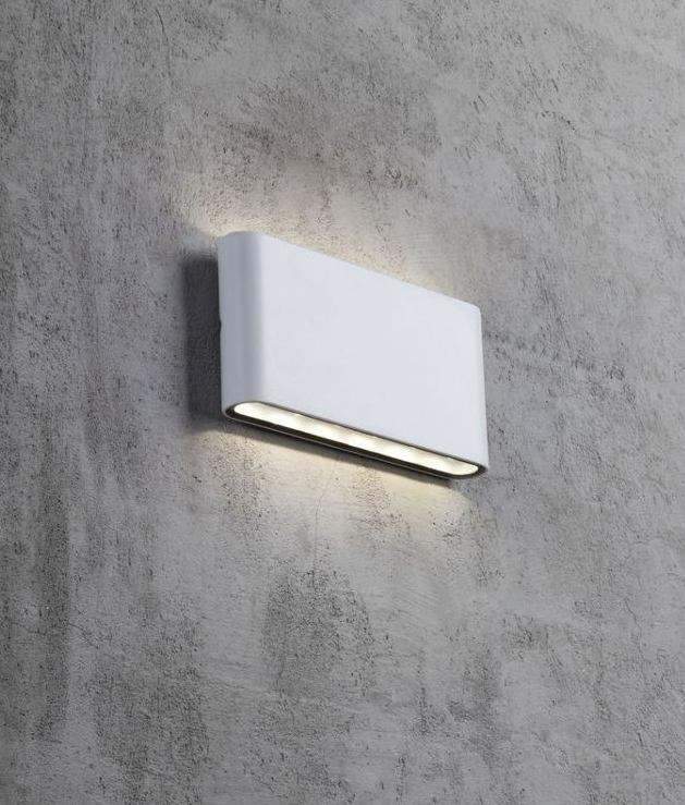 Black Or White Led Slim Exterior Wall Light