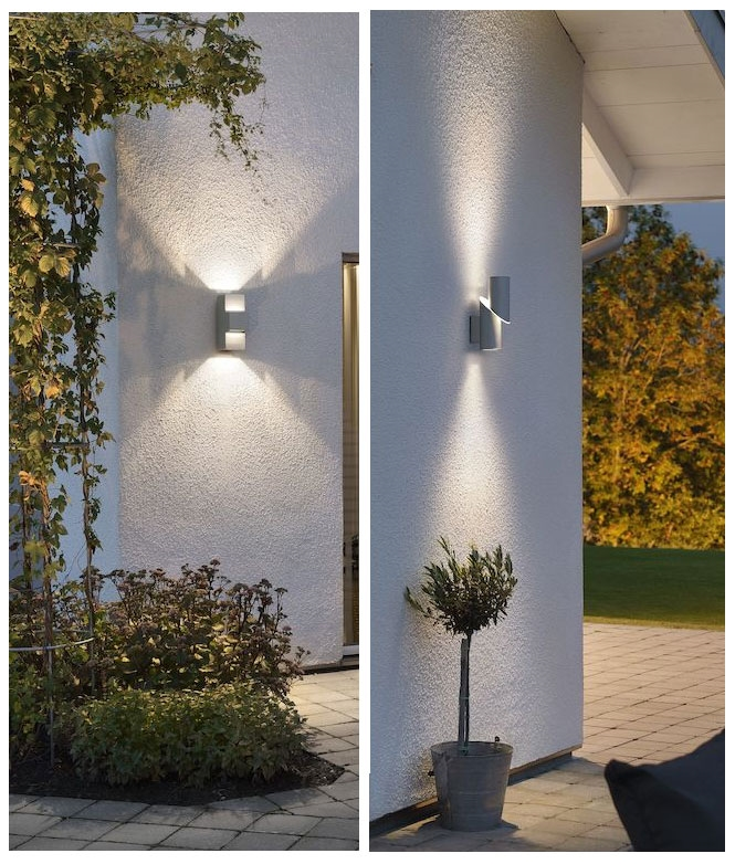 Led Exterior Up Down Wall Light, Outdoor Wall Downlights Led
