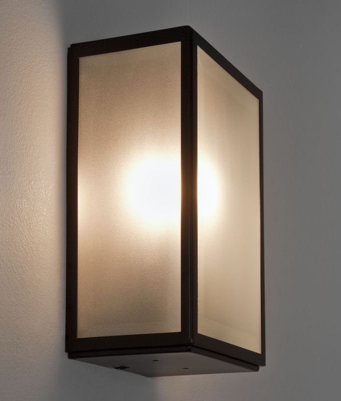 Frosted glass ext wall light h 250mm for Contemporary exterior wall lights