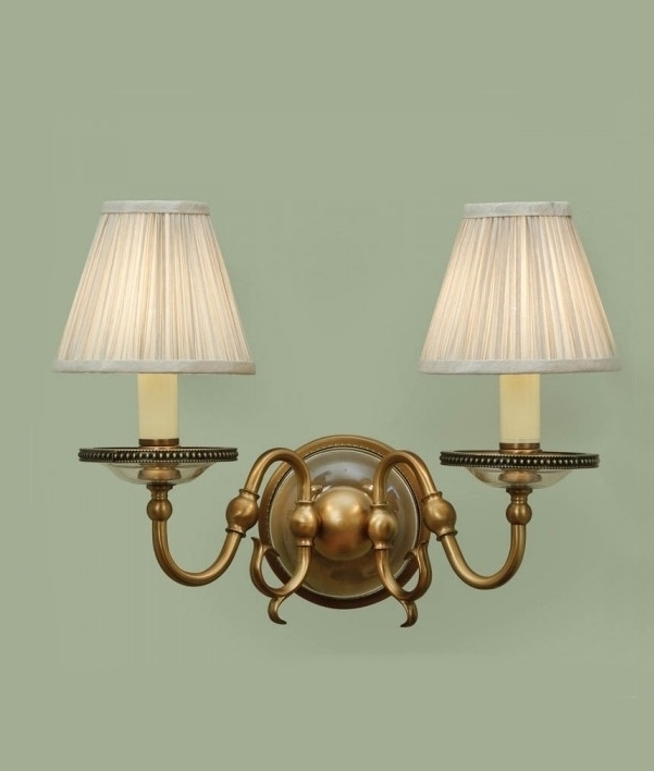 Bhs Wall Lamp Shades : Flemish Double Arm Wall Light