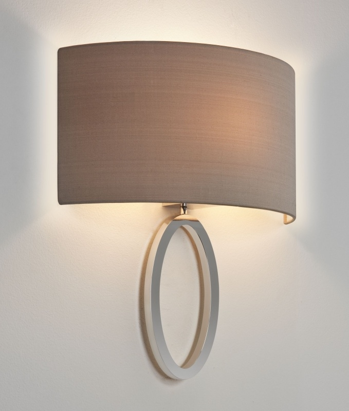 Ellipse Bracket Wall Light Low Projection With Curved Shade