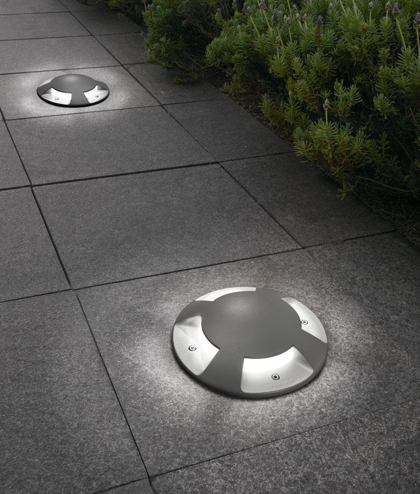 Exterior Ground Recessed Indicator Light Ø200mm. Low Glare Castlights To  Wash Footpaths And Roads