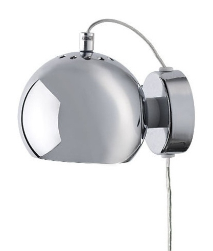 Chrome Ball Wall Lights : Frandsen Ball Wall Light - Glossy