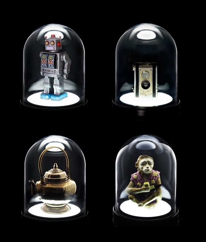 Led Glass Dome To Showcase Items