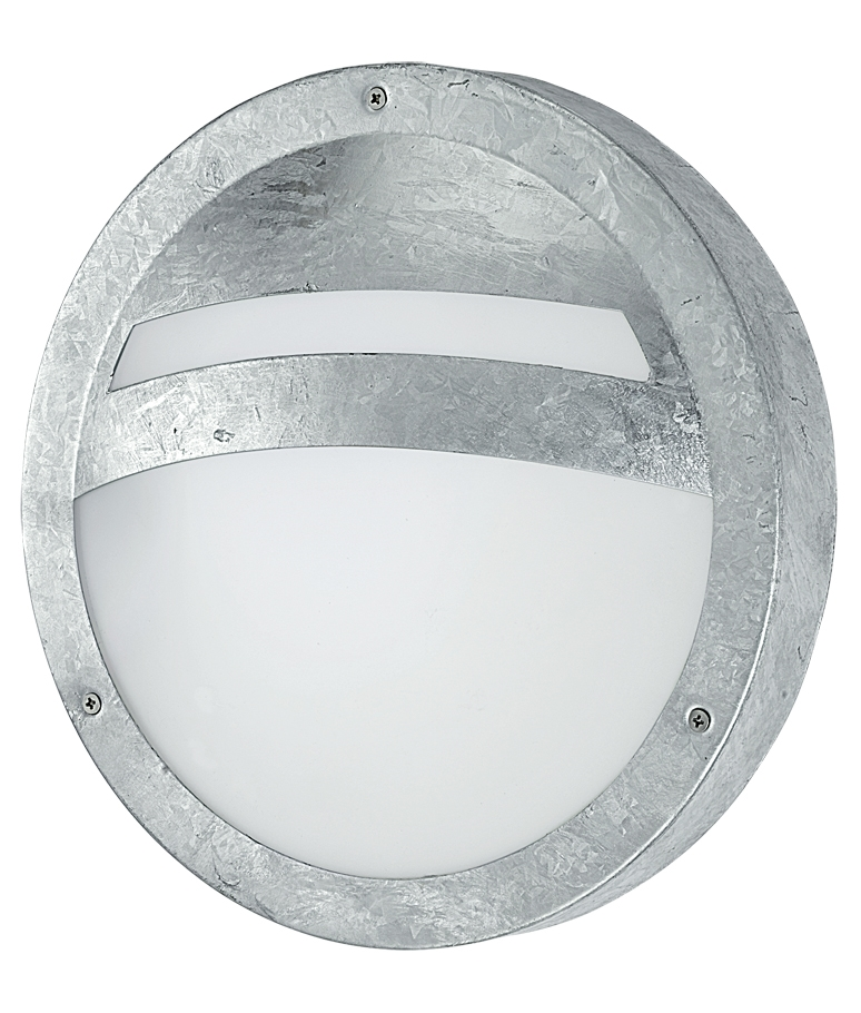 Exterior galvanised bulkhead light galvanised bulkhead outdoor light aloadofball Choice Image