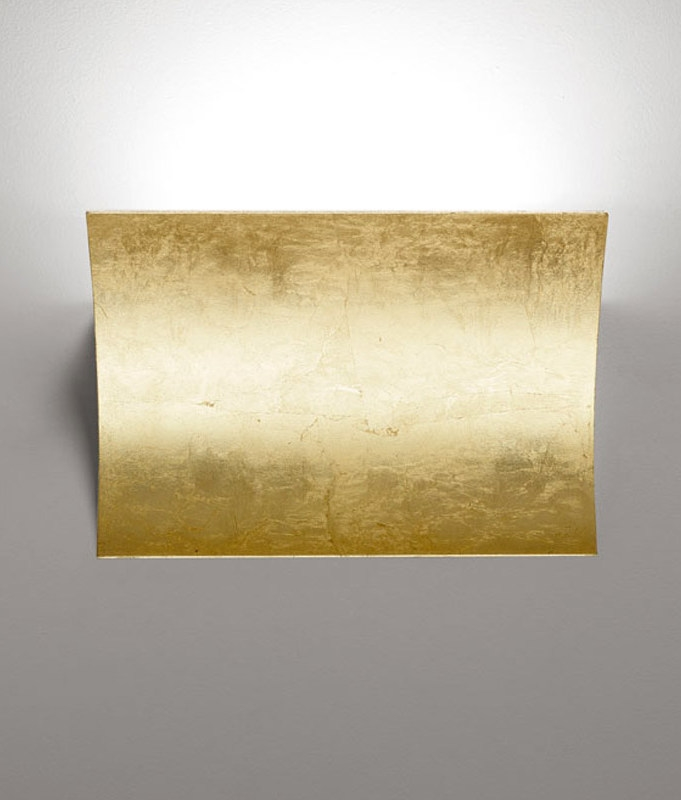 Wall Sconces That Shine Up And Down: LED Up & Down Gold Leaf Wall Light