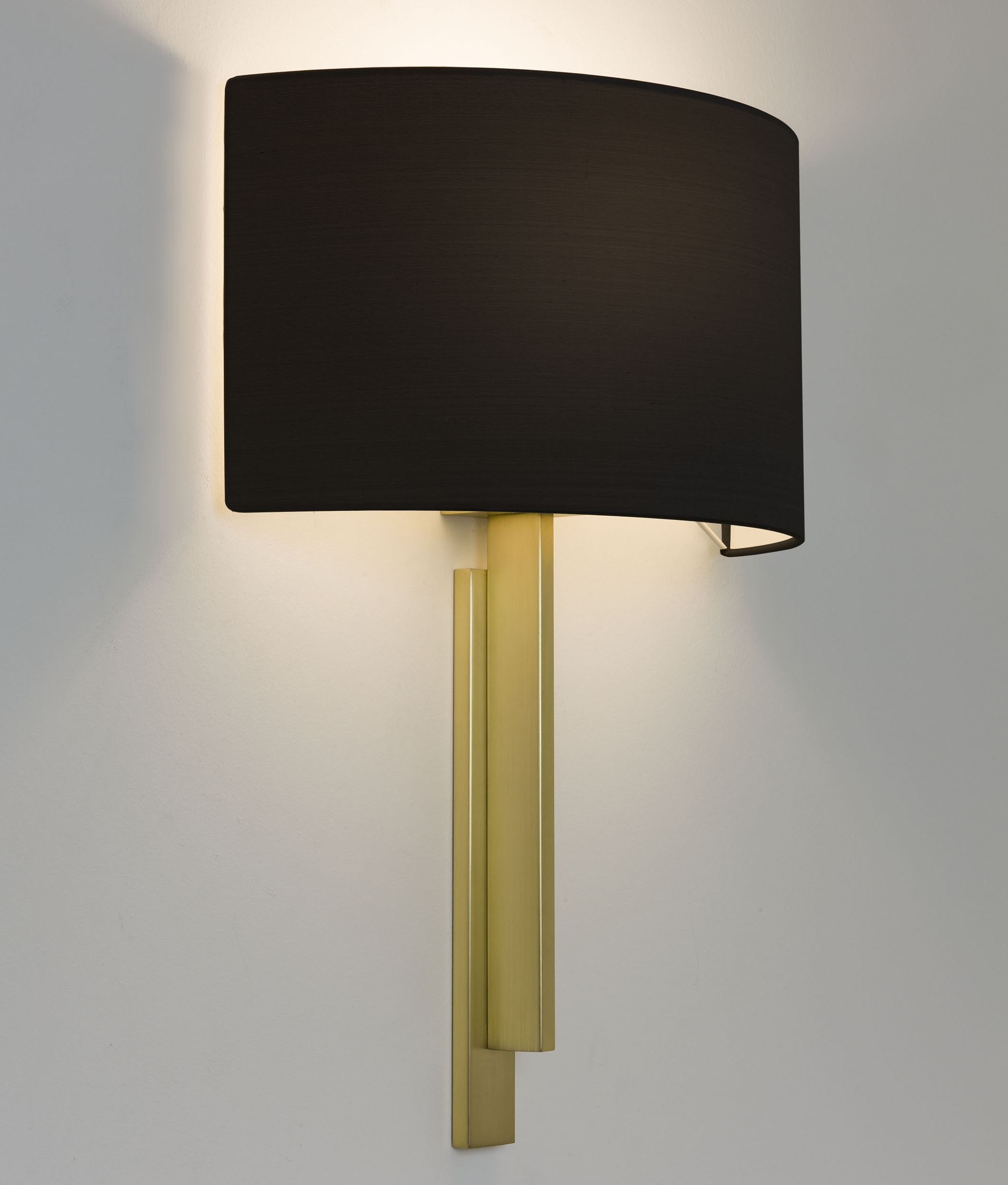 Slim And Shallow Profile Wall Light And Shade