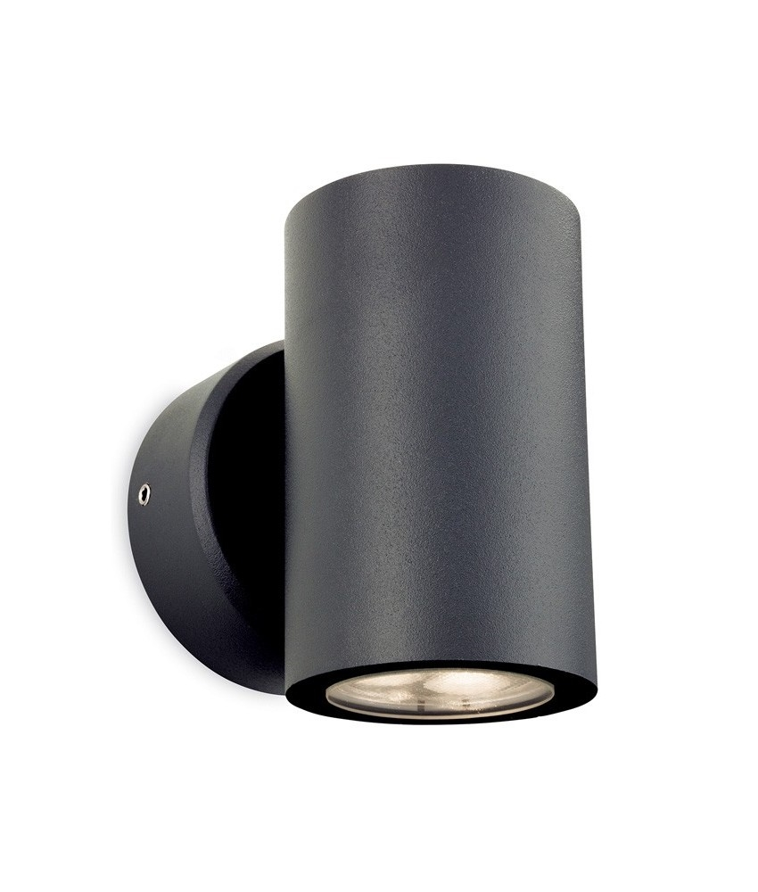 Round Led Exterior Wall Lights : LED Graphite Round Exterior Wall Light
