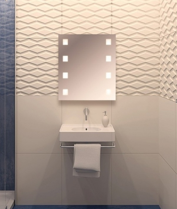Shaver socket switched illuminated bathroom mirror for Bathroom zone lighting