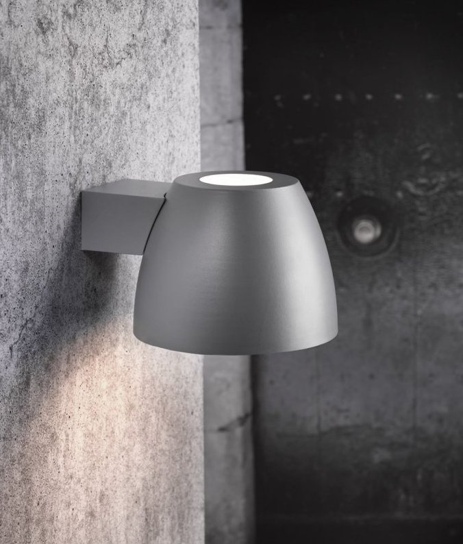 Grey Outdoor Wall Light Cup