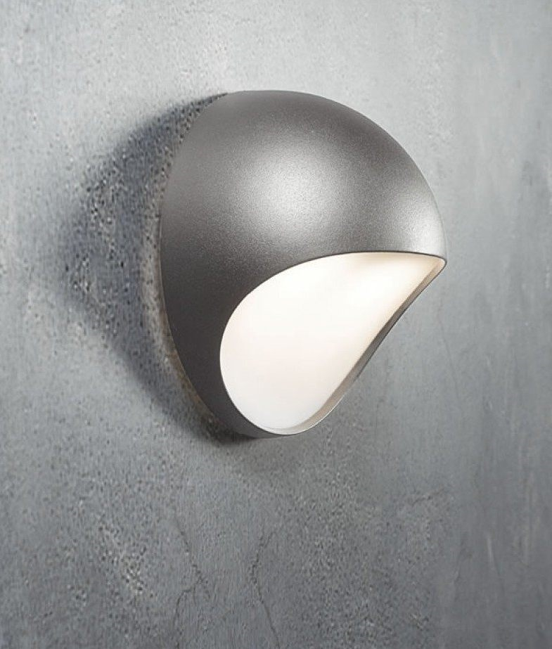 Backlit Exterior LED Wall Light   Danish Design