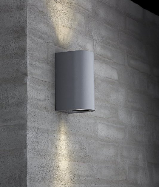 Exterior Gu10 Wall Light With Adjustable Filters Ip44
