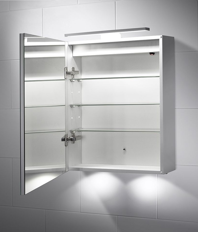over bathroom cabinet light led bathroom illuminated cabinet with mirror light 19824