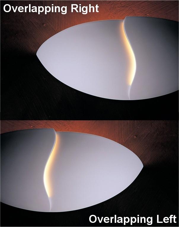 Half Moon Plaster Wall Lights : Plaster Wall Uplight with Shadow Gap