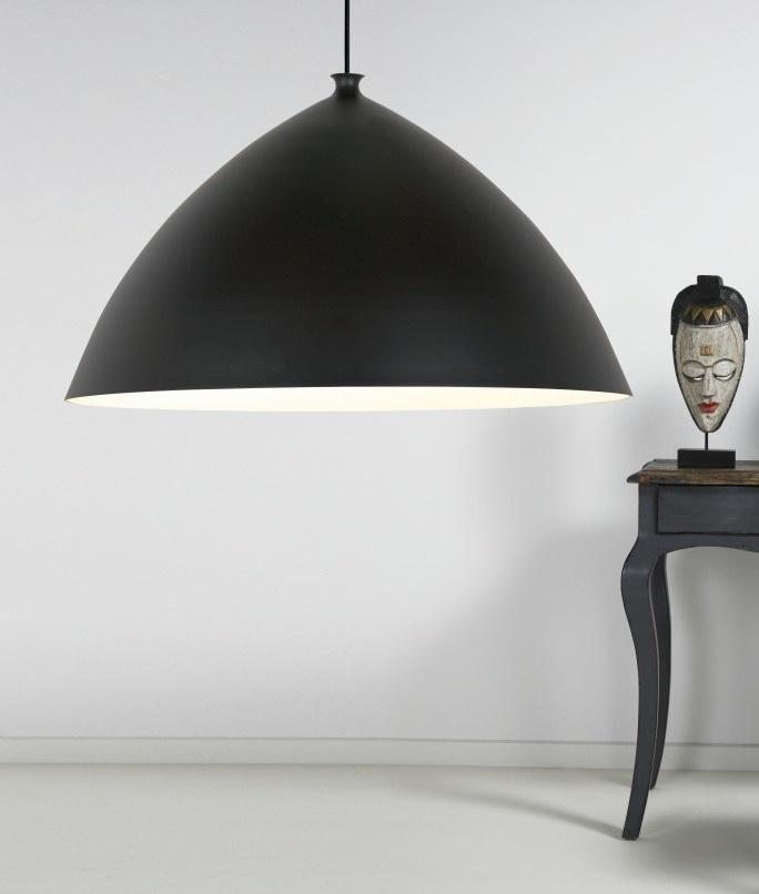 Modern Matt Black Pendant 50cm