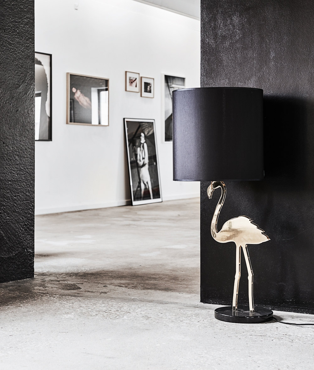 Large Crazy Flamingo Table Lamp With Shade