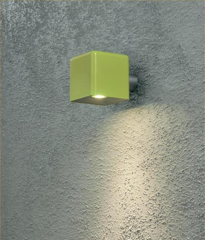 Lime Green Exterior Wall Light