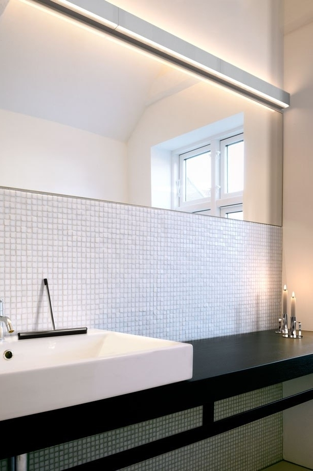 Splashproof Linear Wall Light With Up And Down Light Distribution Gives Impact To A