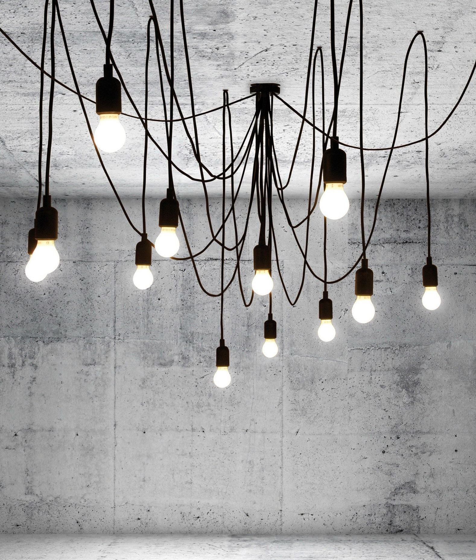 Modern Multi Flex Chandelier With 14 Led Lamps