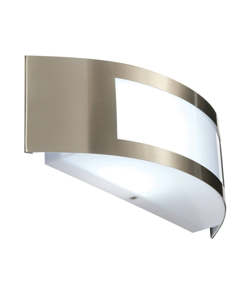 Brushed stainless steel exterior wall light arubaitofo Images