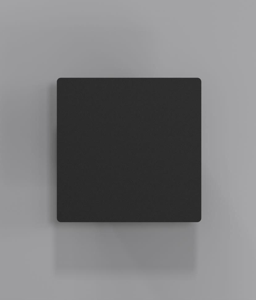 Black Square Wall Lights : Square LED Wall Light IP44 - 3 Light Patterns