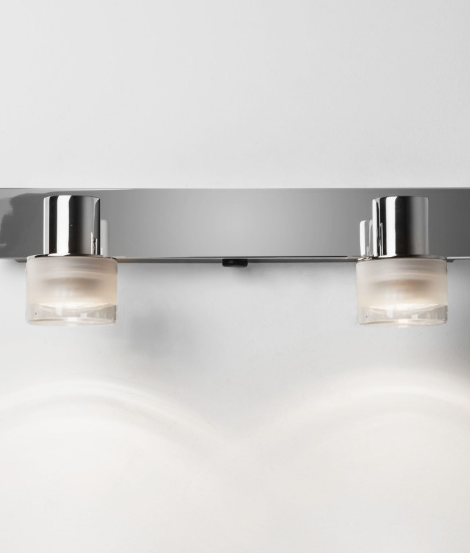 Chrome Twin Lamp Fixed Bathroom Light