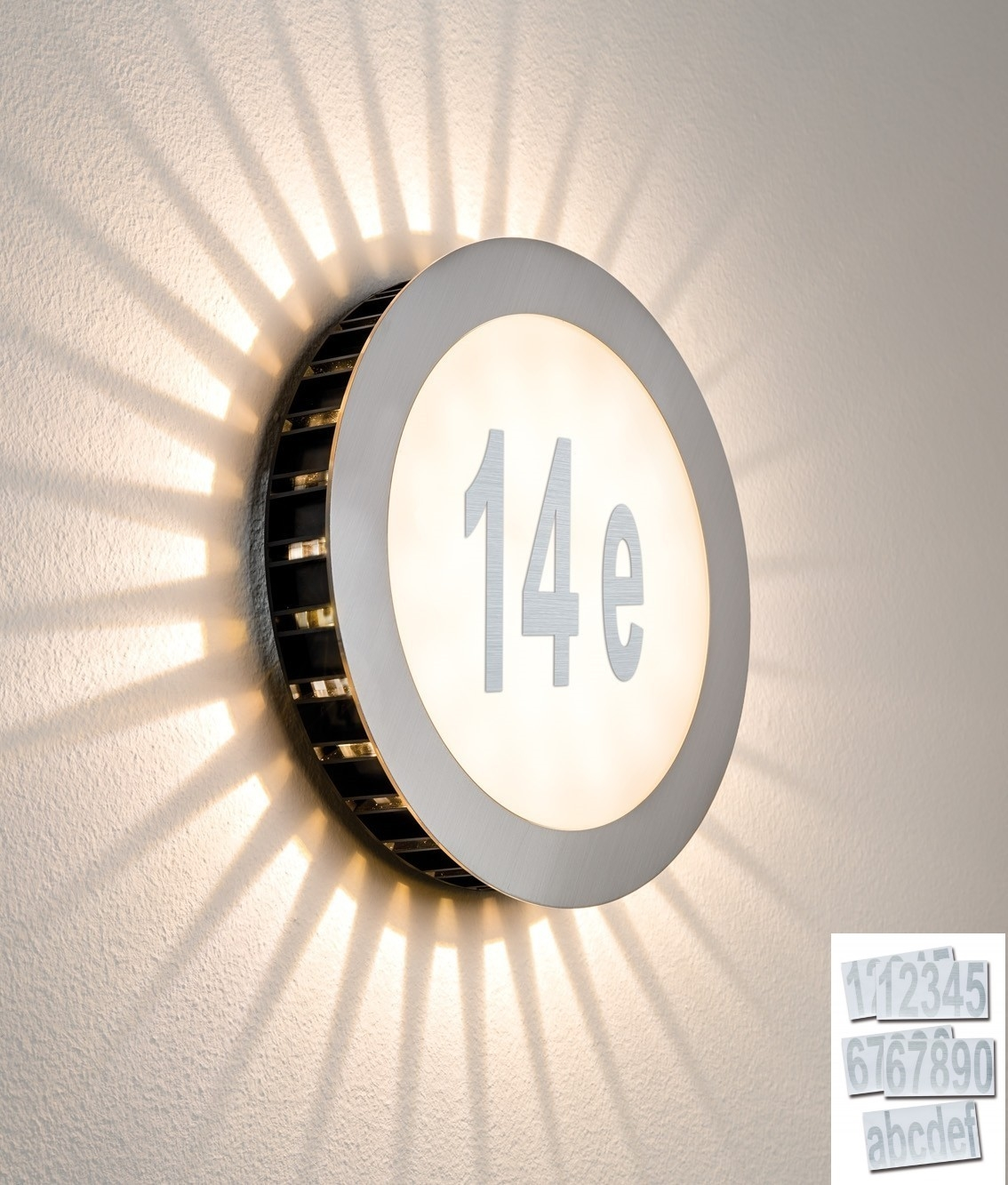 Led illuminated house number fitting Led house numbers