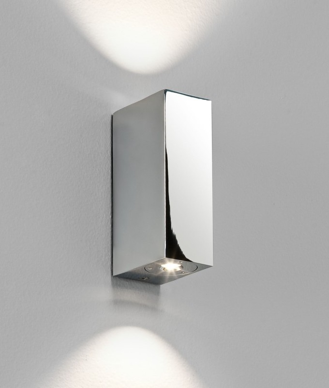 Small Chrome Wall Lights : LED Small Up and Down Wall Light - IP44
