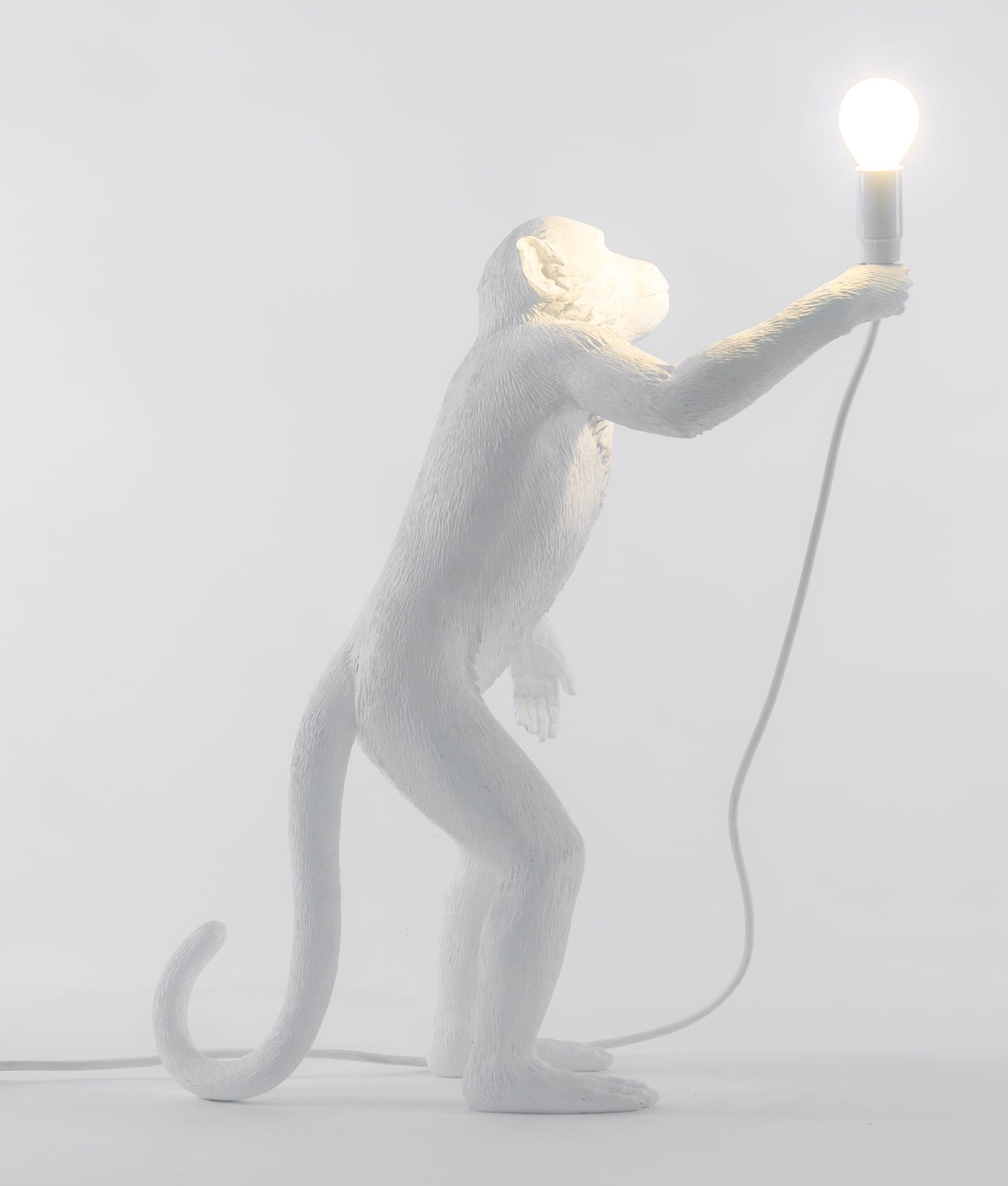 Monkey Standing Table Light With Led Lamp Included