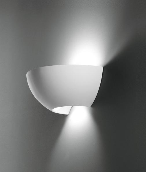 Wall Lights Plaster Finish : Compact Natural Finish Plaster Wall Light