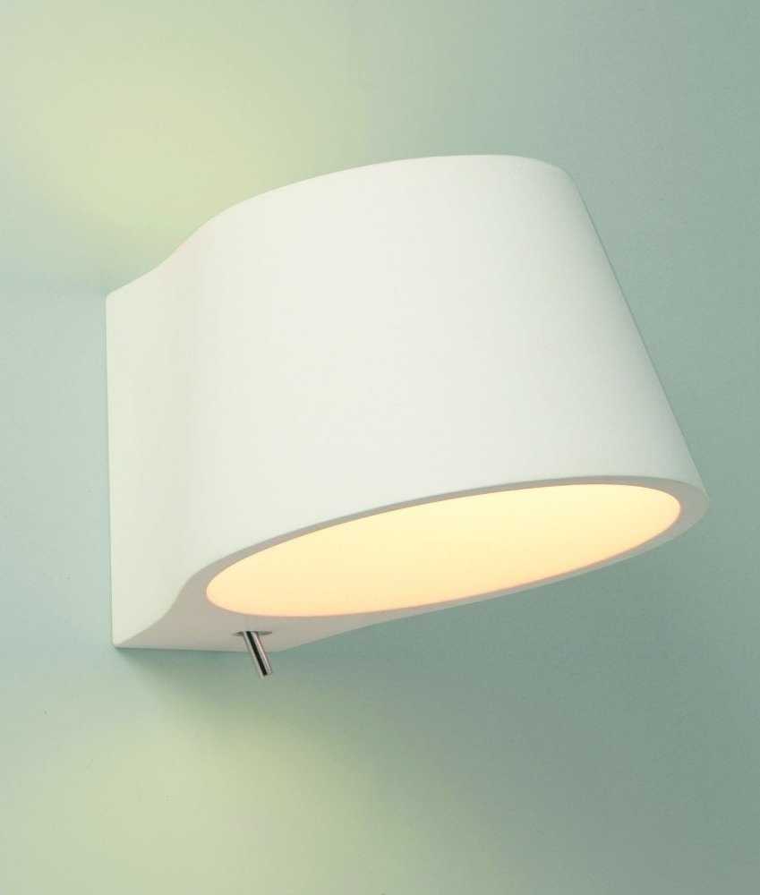 Tiffany Switched Wall Lights : Switched Plaster Bedside Light