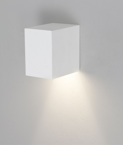 Indoor Wall String Lights : Square White Plaster Interior Wall Light