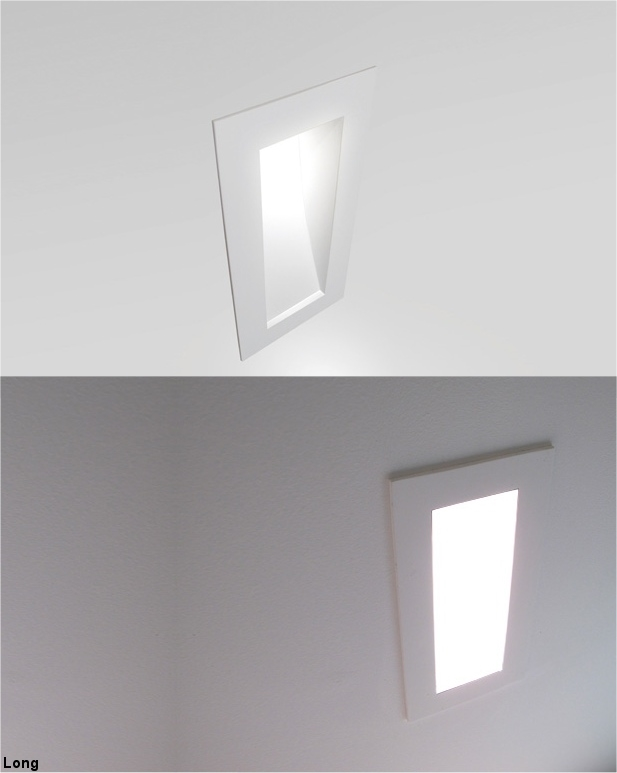 low level semi recessed plaster lighting