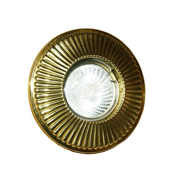 Antique Styled Ribbed Detailed Circular Downlight
