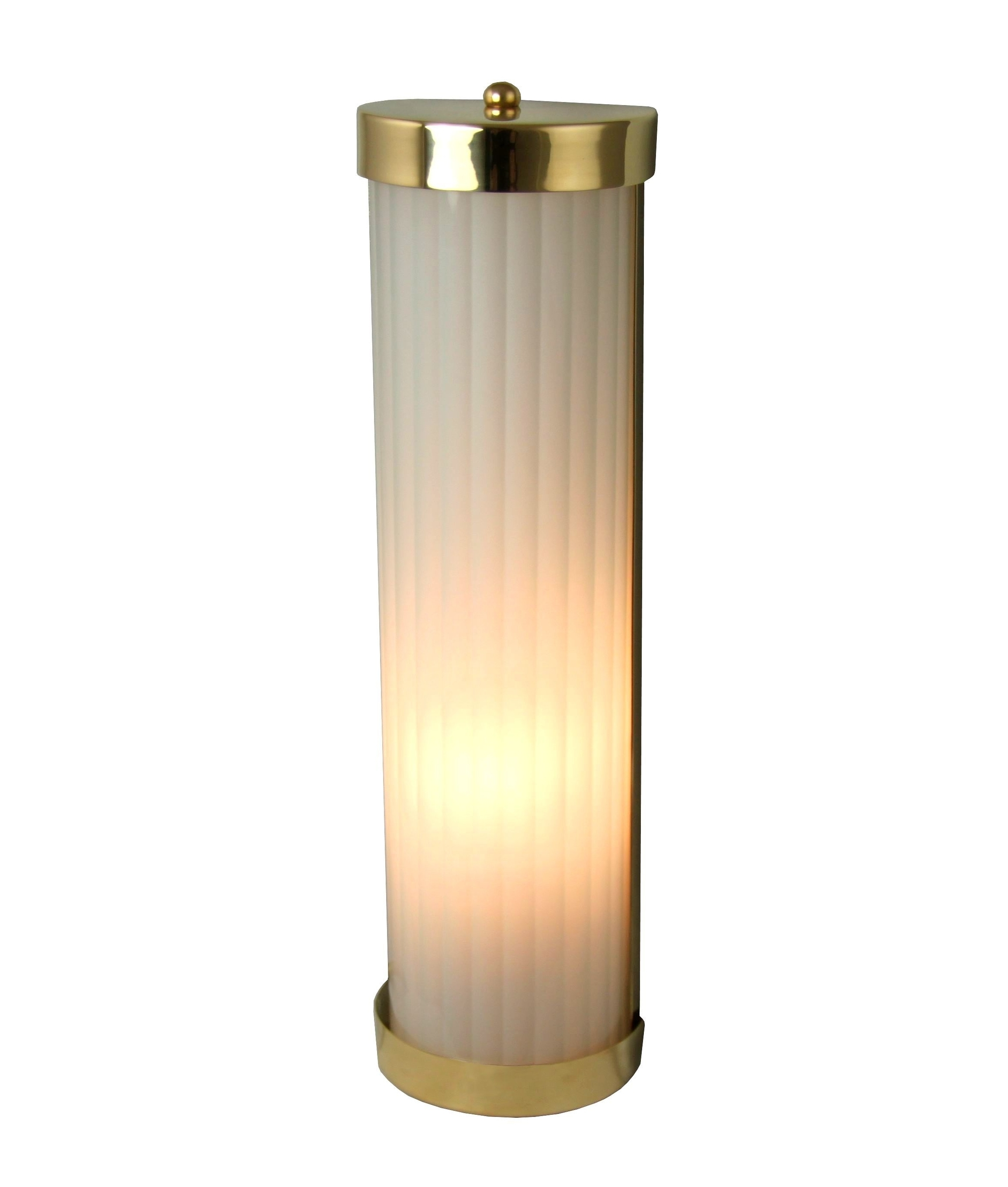 Reeded Glass Wall Lights In Copper Brass Or Chrome