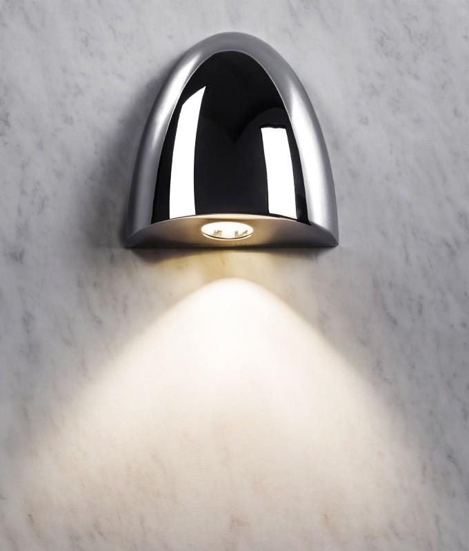 Recessed led bathroom ip65 wall light polished chrome or white finish mozeypictures Choice Image