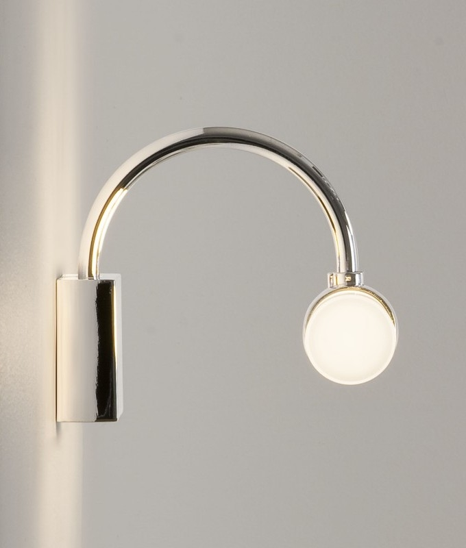 Bathroom wall light polished chrome Polished chrome bathroom mirrors