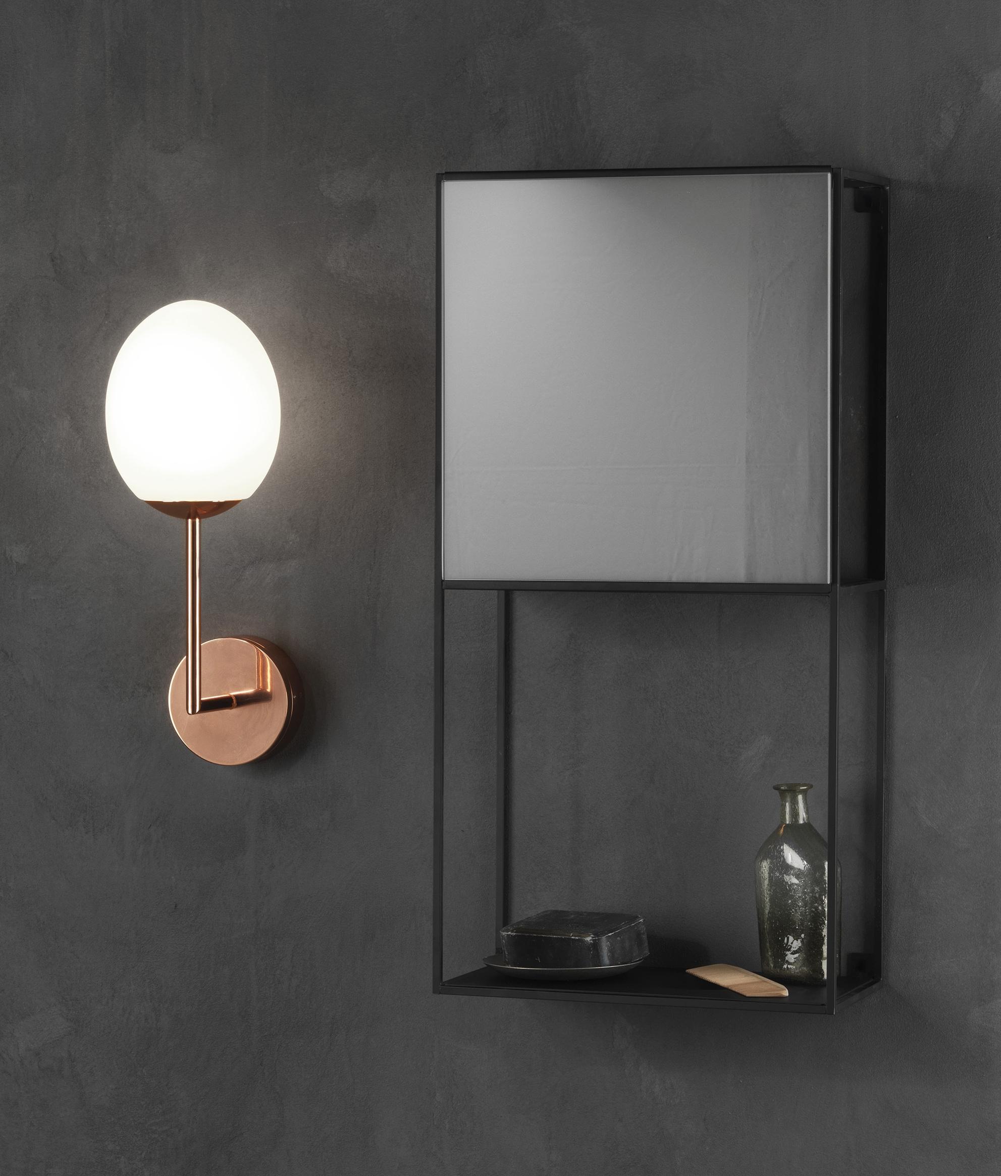 Egg Shape Glass Led Wall Light Ip44 Rated