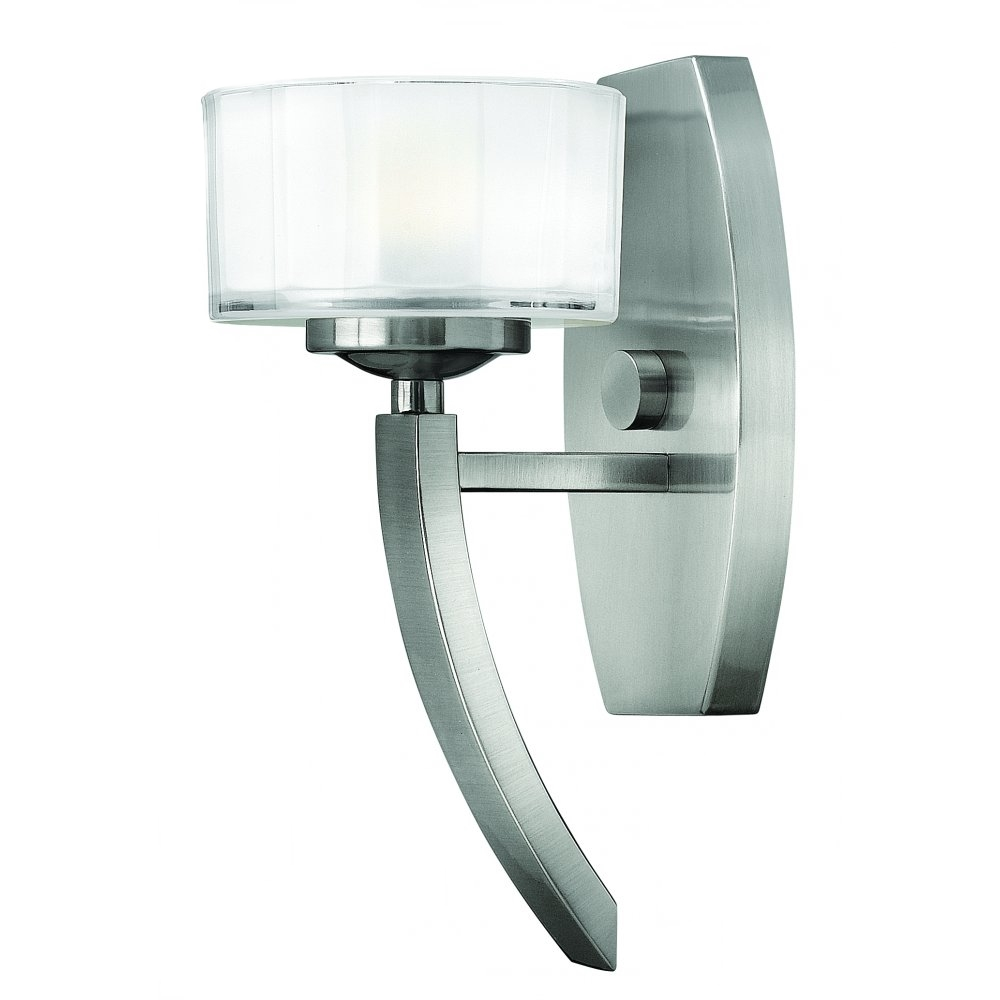Hanging Lights That Plug Into Wall : Polished Nickel Art Deco Style Wall Light