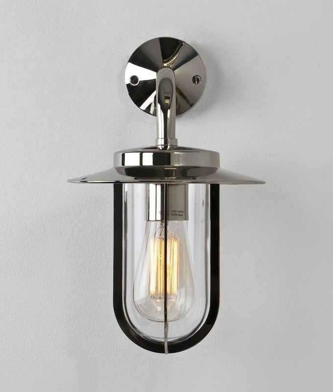 new product 64b50 9a8fa Exterior Wall Lantern in Chrome or Bronze Finish