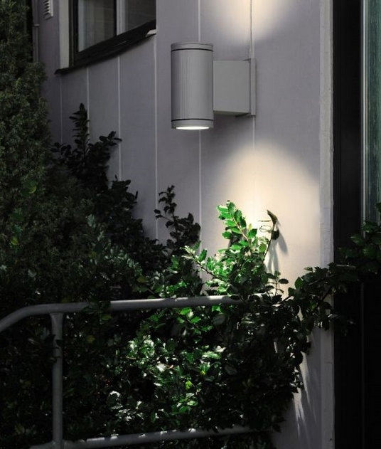 Commercial Walls Landscape Design: HIT Cylinder G12 Commercial Up Down Wall Light