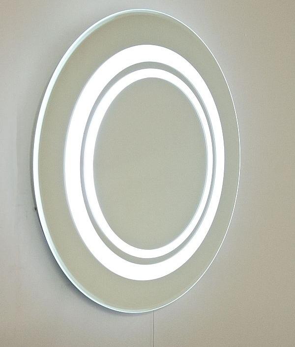 Round Fluorescent Bathroom Mirror Diameter 600mm