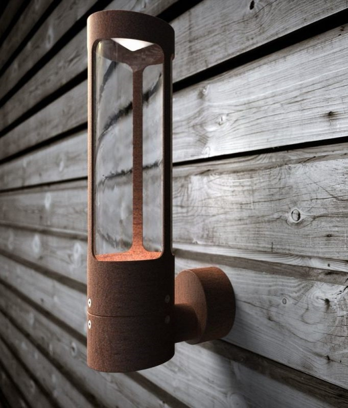 Exterior Tall And Slim Led Wall Light