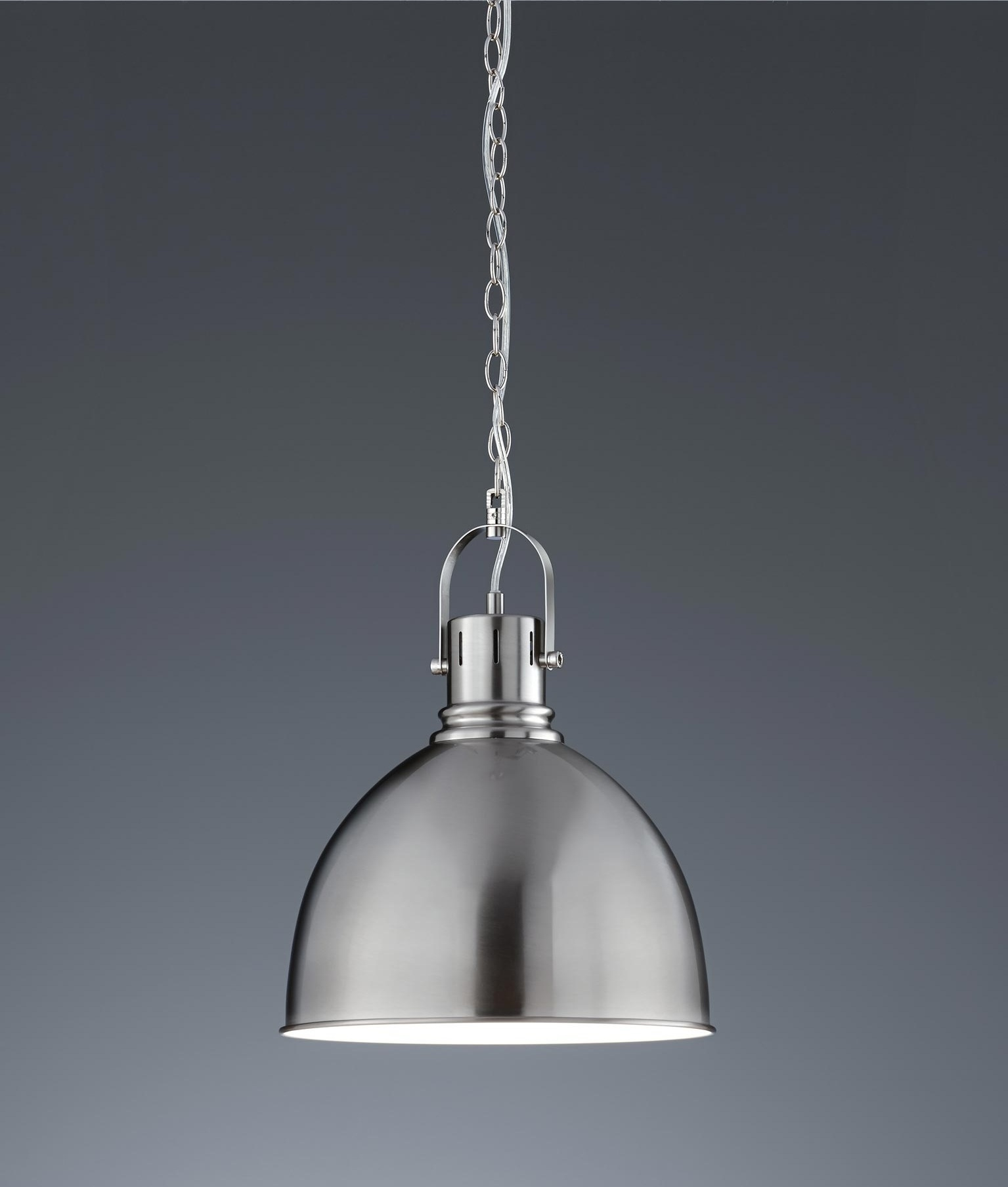 Stylish Metal Pendant Available In Copper Or Satin Nickel