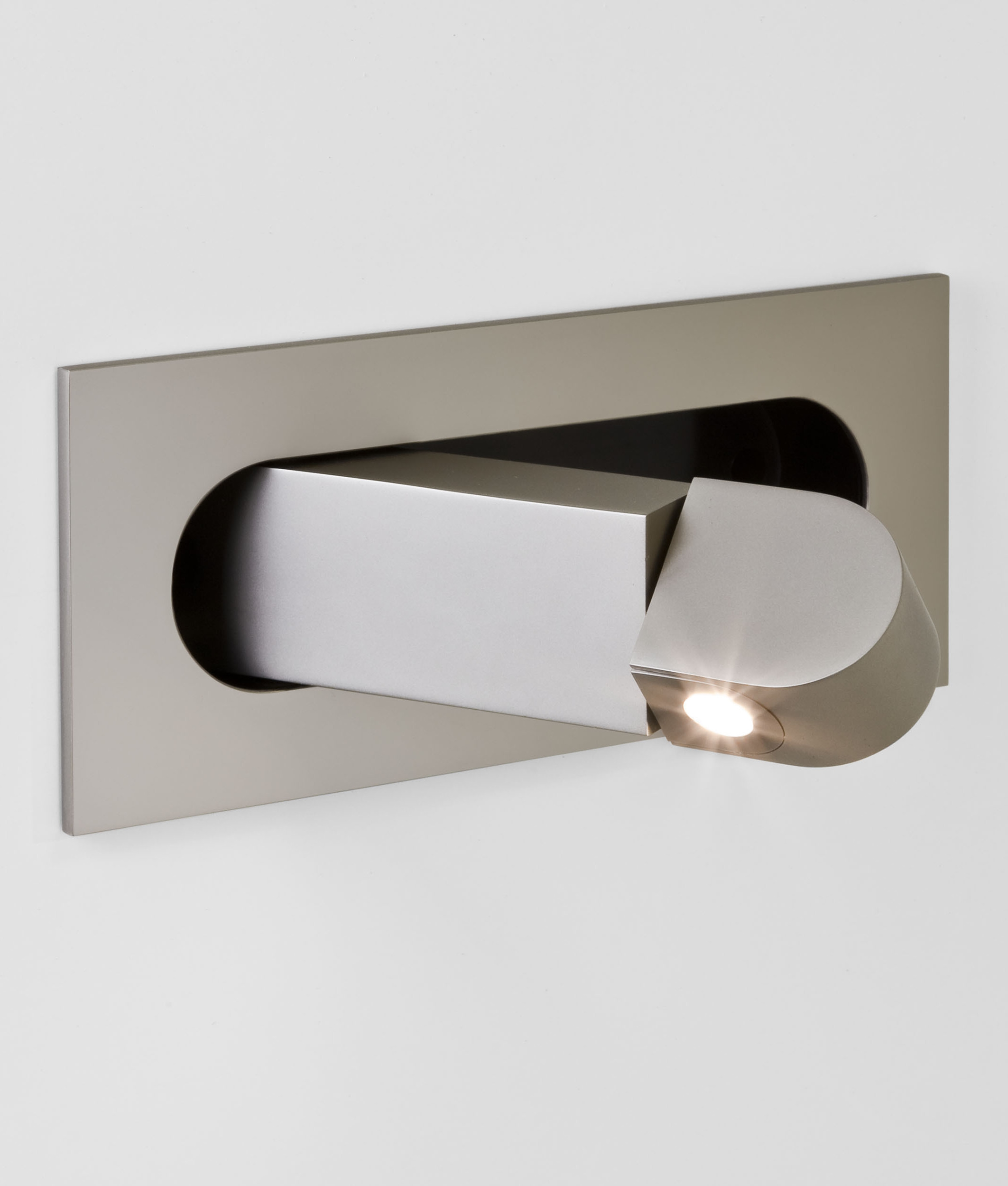 flush pull out led bedside reading light 4 finishes
