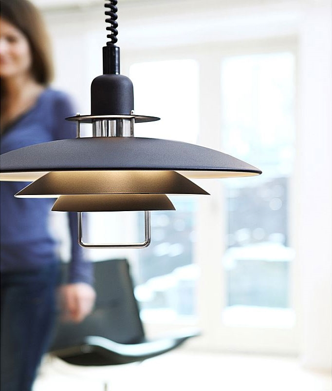 Industrial Rise And Fall Pendant Light: Scandinavian Metal Rise & Fall Modern Pendant Light