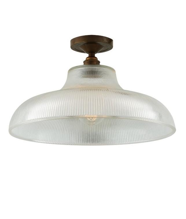 Semi Flush Prismatic Art Deco Prismatic Flush Light