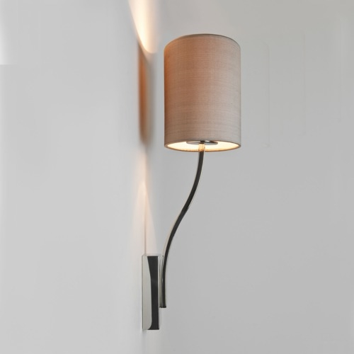 Side Wall Lamp Shades : Sleek Small Space Wall Light with Shade