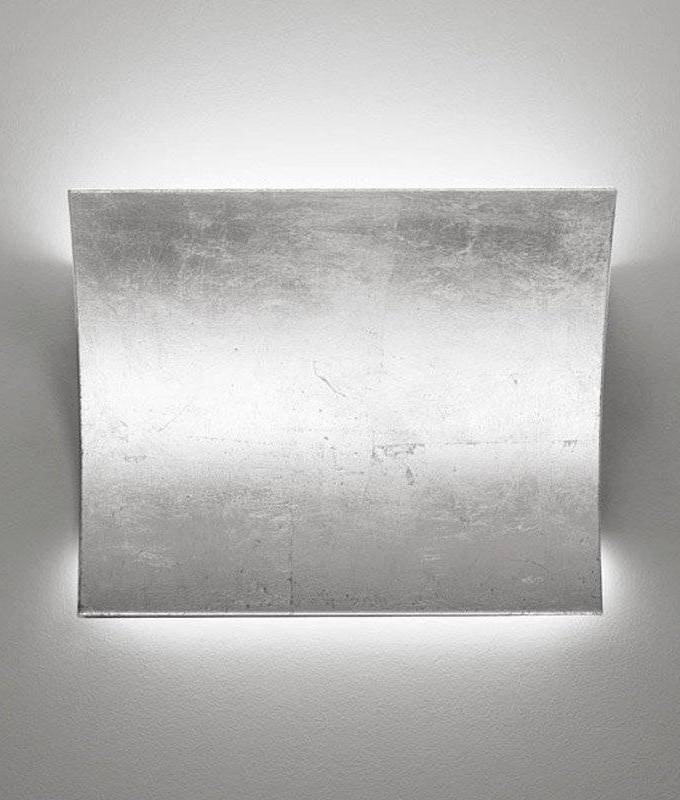Matte Silver Wall Lights : LED Up & Down Silver Leaf Wall Light